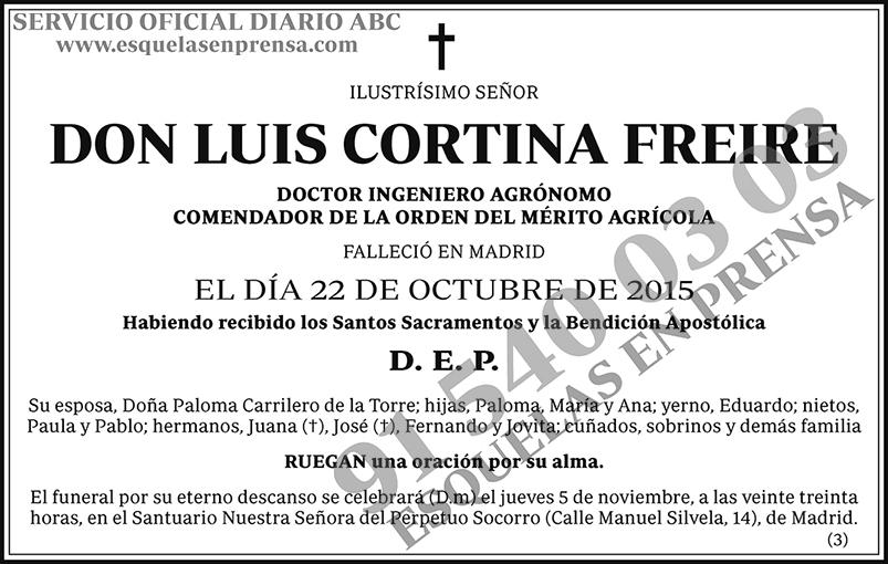 Luis Cortina Freire